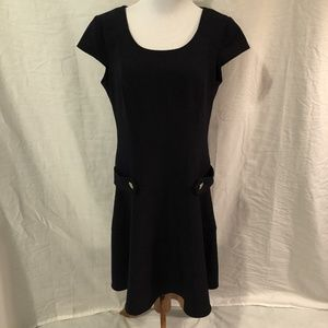 Chetta B Dress Short Sleeve Below Knee